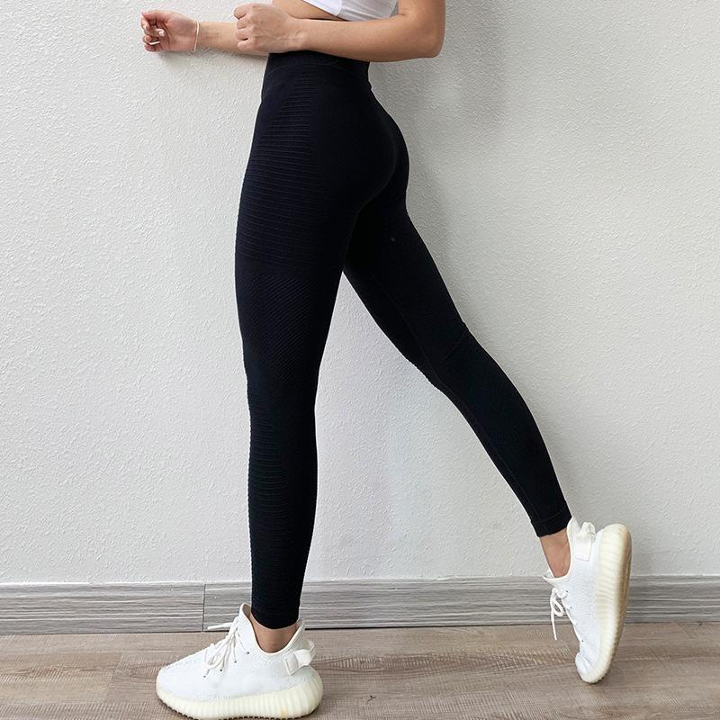 Energia senza saldatura Sport Fitness Leggings funzionamento di ginnastica allenamento Pantaloni Yoga donne di alta vita stretta pancia controllo Pantaloni Hip sollevamento