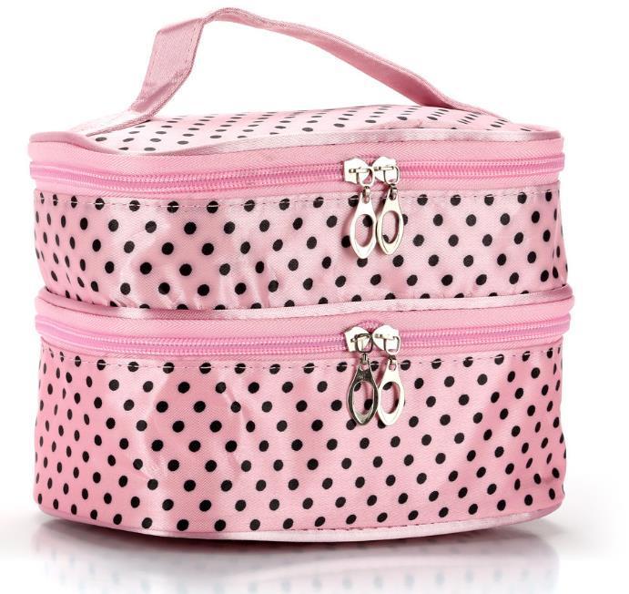 Designer Handbag 2020 Moda esplosione modello Wavelet Double Layer puntino Cosmetic Bag pronto per la spedizione