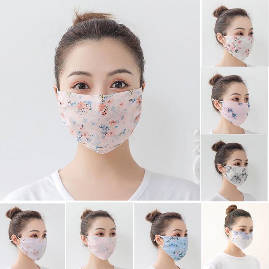 Sommer-Frauen-Schal-Gesichtsmaske aus Seidenchiffon im Freien windundurchlässigen Helfen Face Staubdicht Sonnenschutz Masken Radfahren Anti-UV-Gesichtsschutzschirm Abdeckung 35 Farben