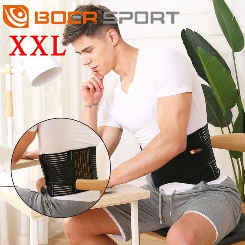 Unisex della vita della fascia di sostegno lombare regolabile Lower Back Brace Pain Relief Belt XrTD #