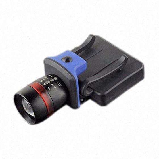 XPE LED 120 Lumen 3 modes waterproof zoomable Clip - on Cap Hat Light Head light lamp black DmCN#