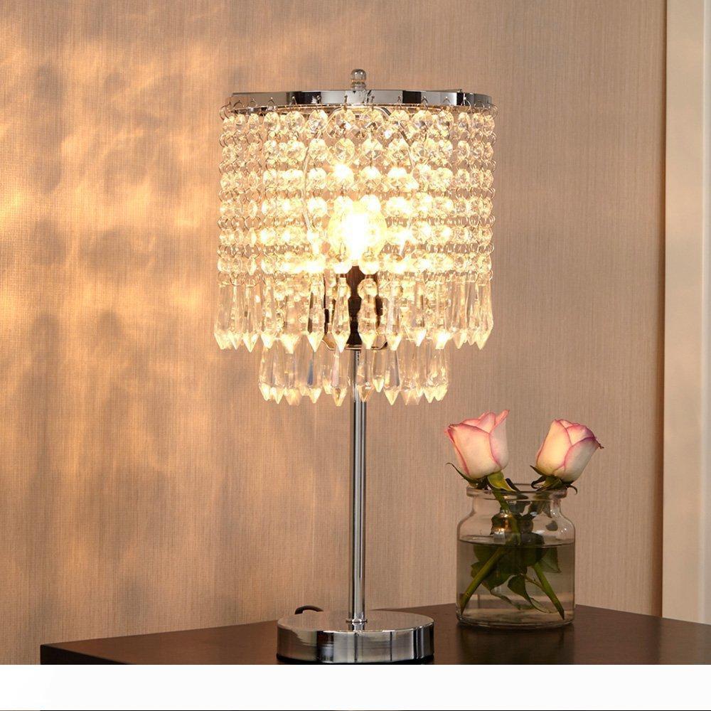 Light Bedside Desk Lamps, Bedside Table Chandelier Lamps