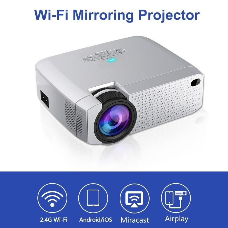 Verkäufer Recomend WiFi Mirroring-Miniprojektor Protable Projektor für Telefon USB 3,5 mm-Buchse LED-Lampen-Ausgang Entertainment-Projektor 2 Stück durch DHL