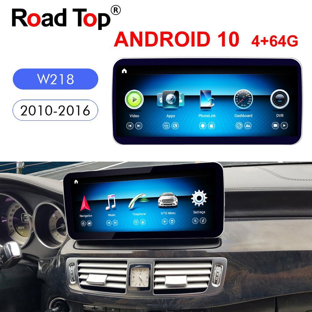 """10.25 """"كوالكوم الروبوت (10) لشاشة مرسيدس بنز CLS الفئة W218 2010-2016 سيارة راديو GPS للملاحة بلوتوث رئيس وحدة واي فاي"""