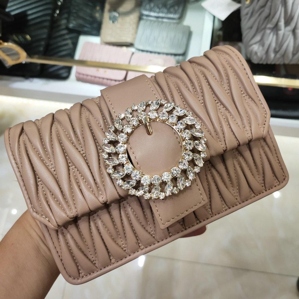 épaule chaîne de femmes Sugao rose sac à cristaux Bery nappa de mini-sac nouveaux sacs de soirée de style 2020