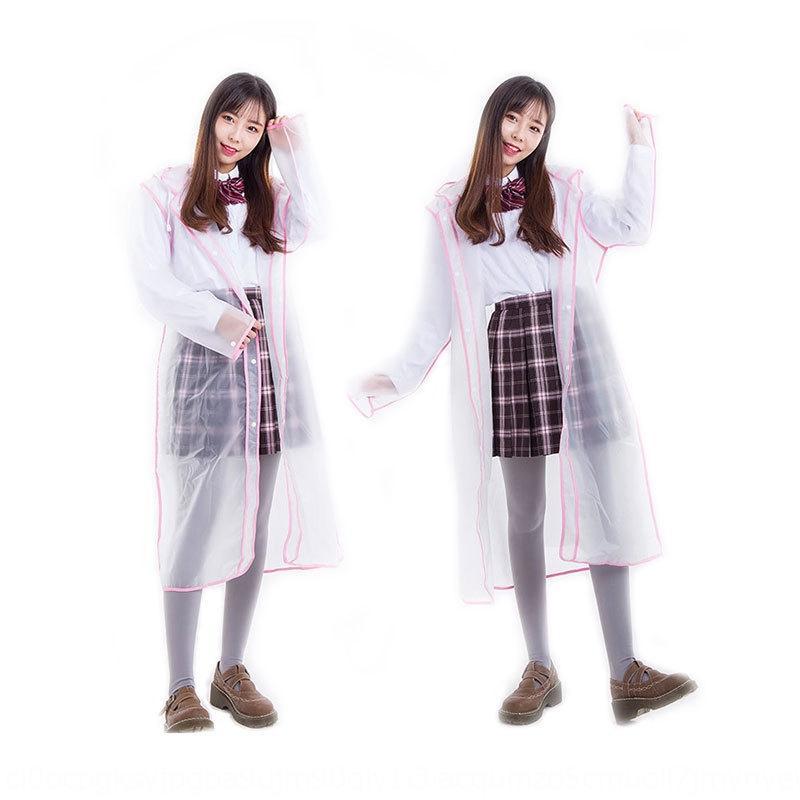 DWFX4 EVA smerigliato trasparente mantello mantello lungo moda all'aperto poncho impermeabile adulto singolo vestito trekking impermeabile delle donne degli uomini