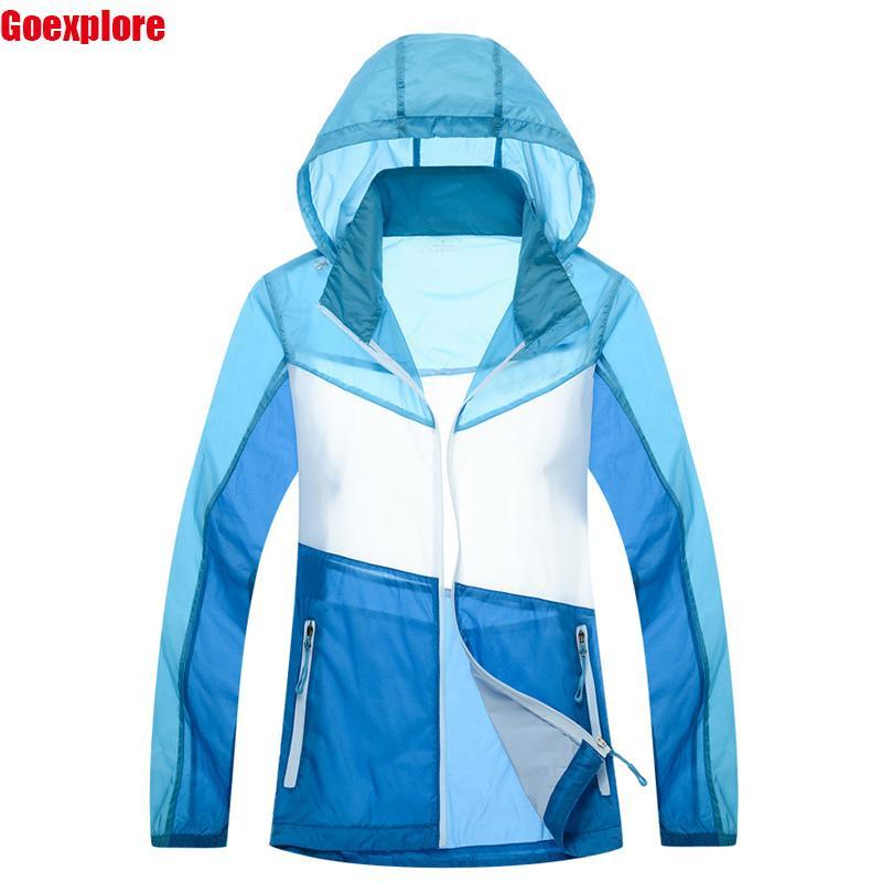 Dropshipping Yeni Ultra hafif Açık Spor su geçirmez Hızlı kuru Giyim Deri elbise Dış Giyim Artı boyutu kadın yaz ceket