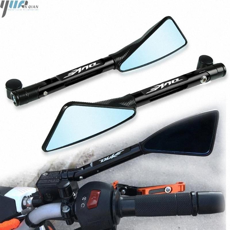 For 125 250 390 200 690 DUKE 990 SUPER DUKE R 790 2016 2020 2019 Motorcycle CNC Rear View Rearview Mirrors Side Mirror Batman Motorcyc D9ed#