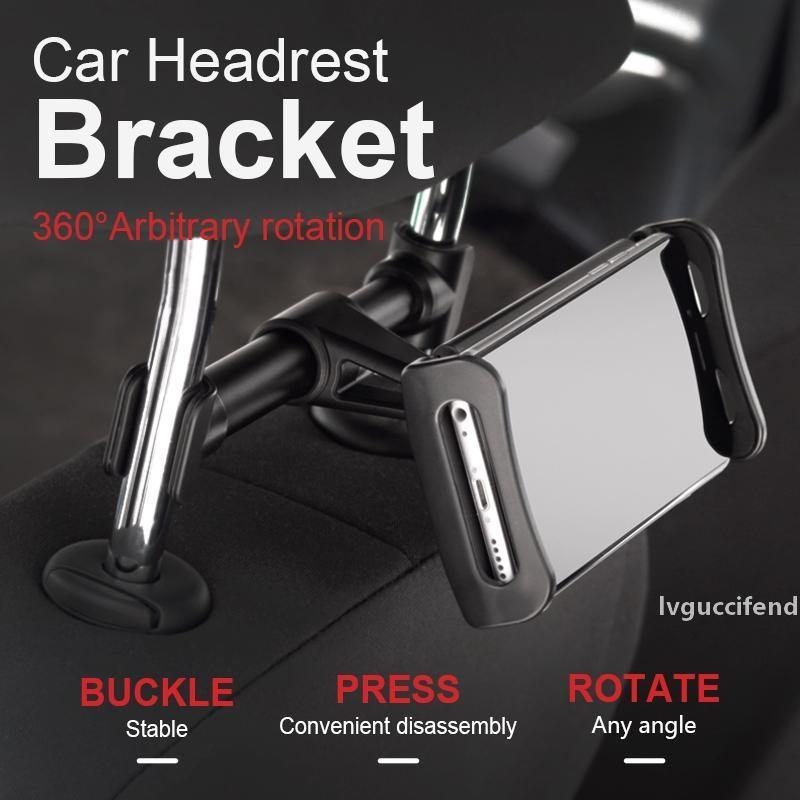Premium Back Seat Car Phone Holder 4-11.5inch Extendable Car Phone Holder Tablet Mobile Rotatable Car Headrest Stand Bracket