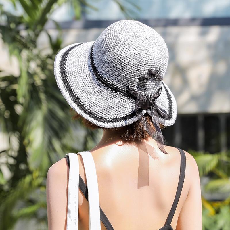 Estate all'aperto sole stile coreano del sole della paglia del tutto-fiammifero cappello casuale a prova di raggi UV cappello di paglia