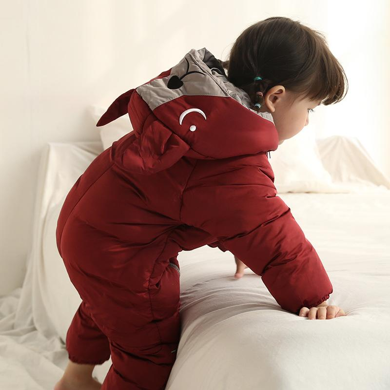 Baby Jumpsuit Winter New Childrens Romper Newborn Men and Women Baby Bib