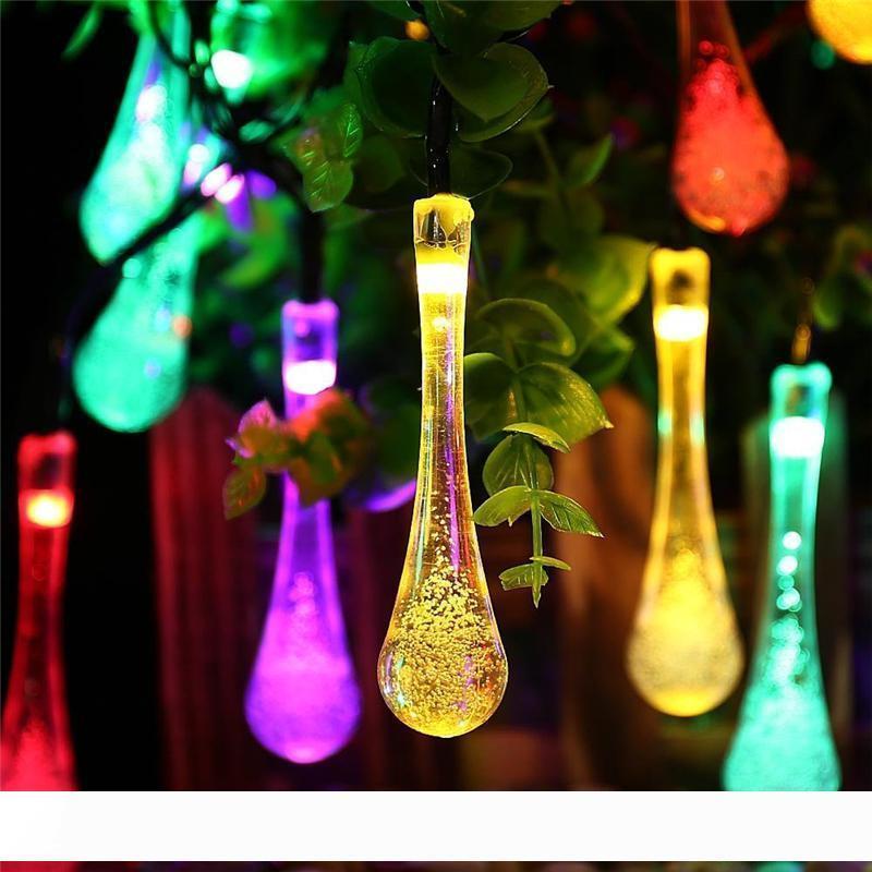 Qualidade Premium 6m 30 LED solares Luzes de Natal 8 Modos à prova d'água da gota da água solares de fadas de corda luzes para jardim ao ar livre
