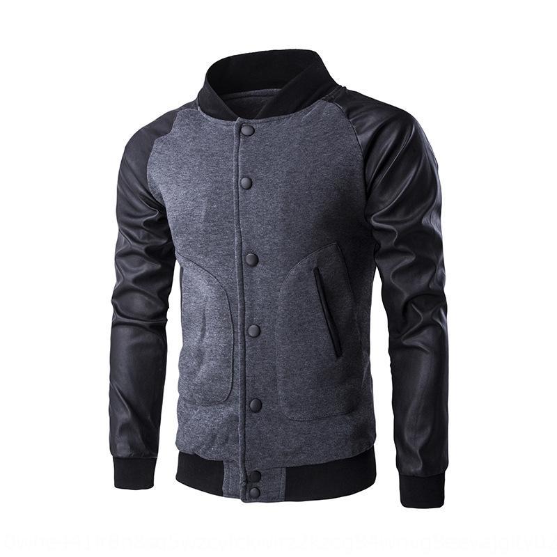 1SxCL personalizzato Pulsante superiore e superiore maglione nuovo grande tasca tasto uomo autunno inverno della chiusura lampo del rivestimento del maglione maniche raglan
