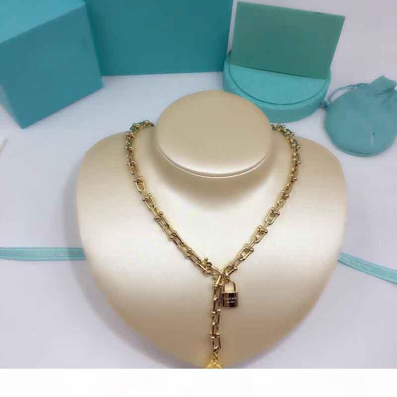 2020 Top stile lucchetto di qualità per le donne collana e gioielli regalo di nozze braccialetto di trasporto di goccia PS7022