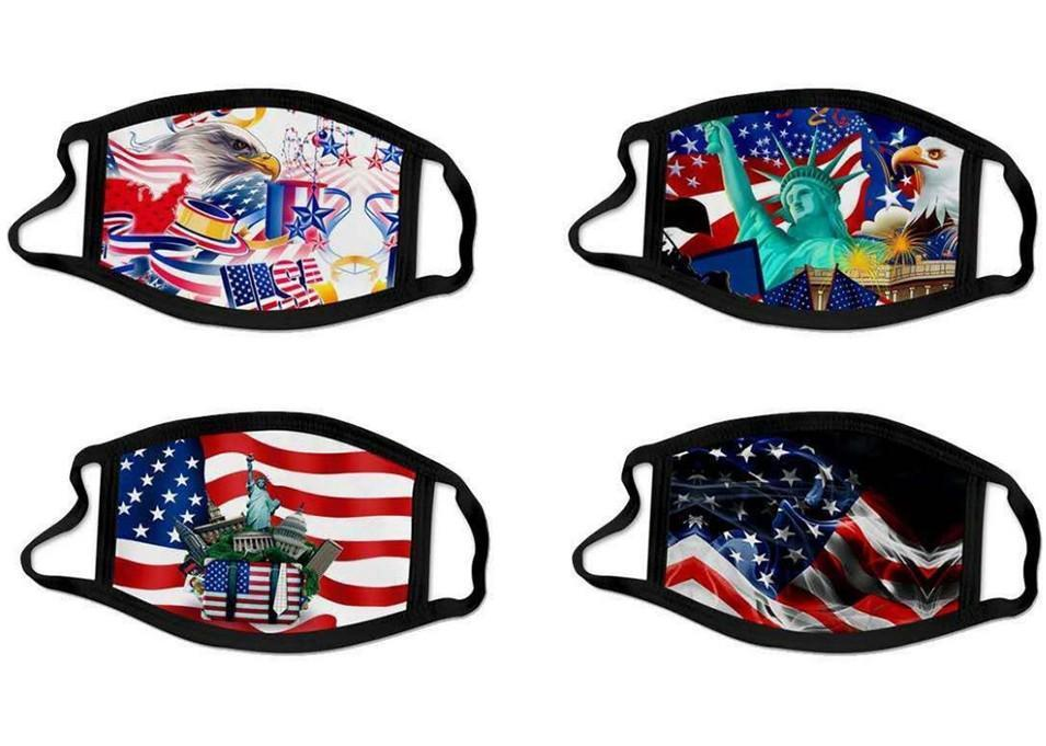 El más popular reutilizable lavable unisex de algodón de la cara Máscara del oído dígito Loop Impreso Diseñador Mascarilla suave mufla del polvo anti Máscara Fy9121 vbKhepv