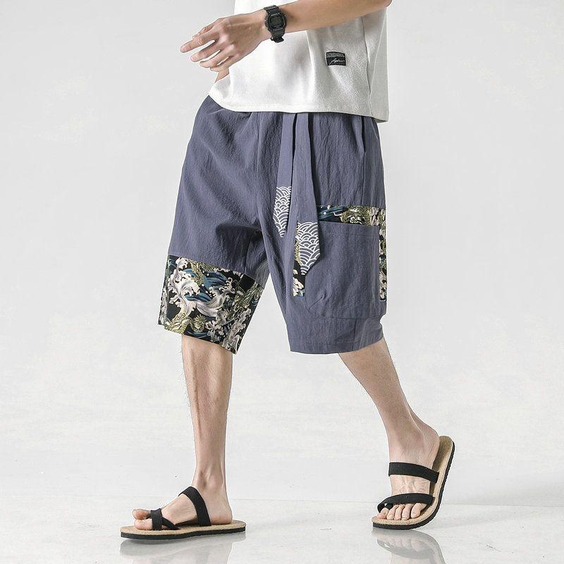 Streetwear verano pantalones cortos para hombres 2020 nuevo algodón de lino casual para hombre Pantalones cortos del estilo chino de las Bermudas de media caña los pantalones cortos de los hombres