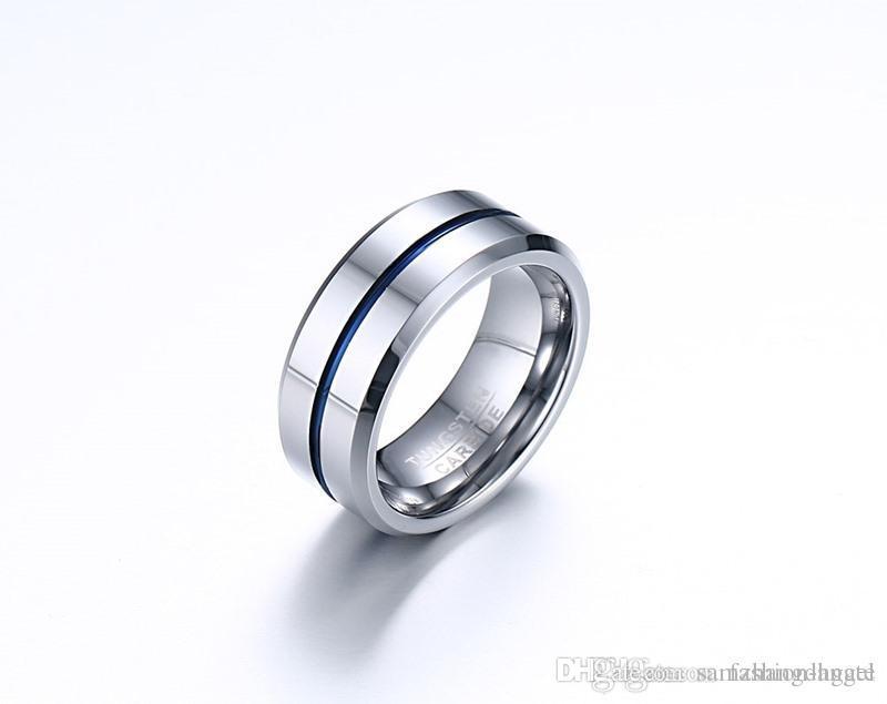 G86 Mischauftrag Valentinstag Geschenk für Männer Wolframcarbid Ringe Wolfram Ring Hand Schmuck Fingerring Lieferant Juwel Fabrik supp