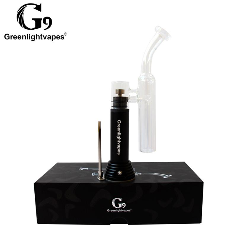 Greenlightvapes G9 Mini Henail Vaporizer smoking device glass bubbler water pipe enail henail portable dry herb dab rig 3 Bowl Wax Atomizer