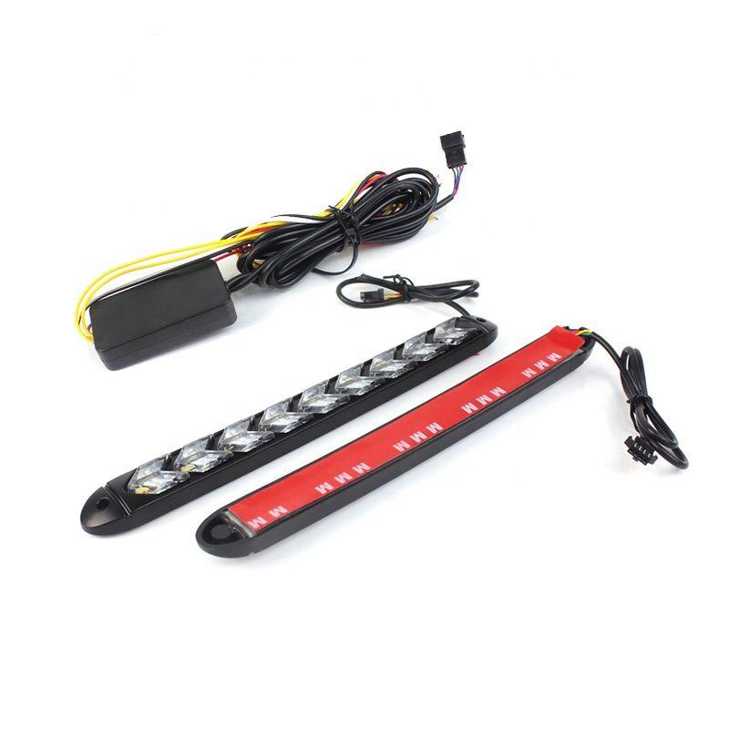 День Running Light Белый Синий Красный Гибкие светодиодные DRL Включение светового сигнала 185мм 250мм 320мм