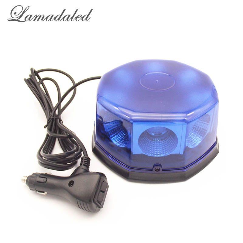12V24V super luminoso azul 40W llevó luces estroboscópicas faro con magnético para lámpara de advertencia estroboscopio carro de la ambulancia fuego