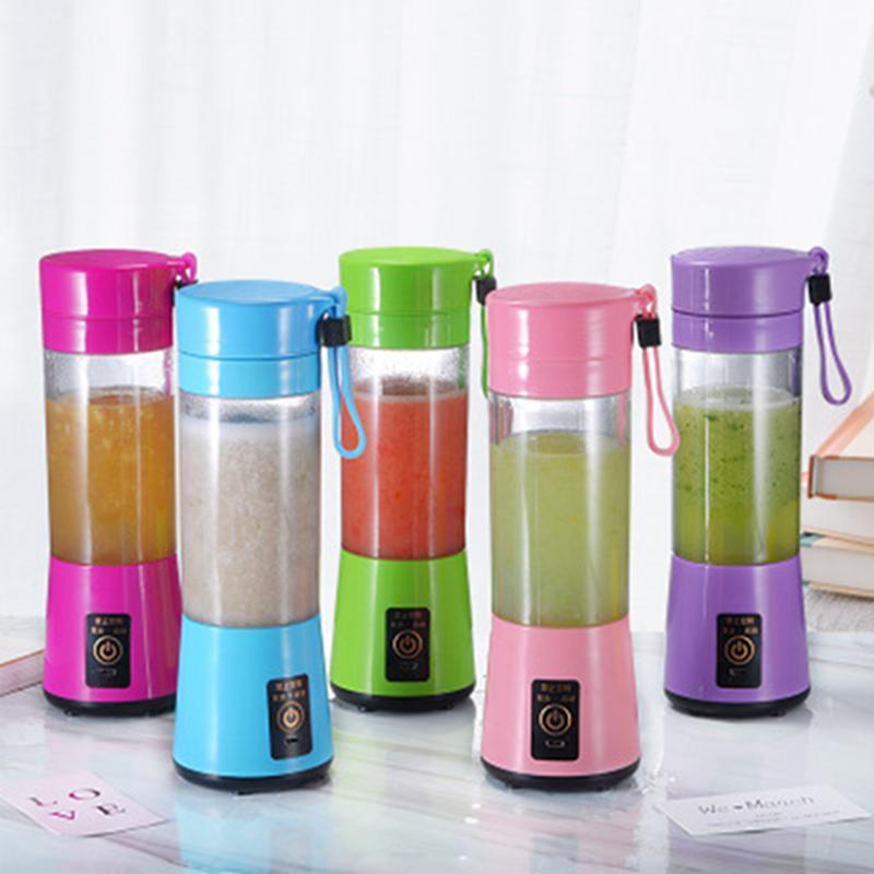 380 ml 충전식 개인 주스 블렌더 과일 전기 6 블레이드 휴대용 미니 블렌더 Juicer 컵 USB 충전기 케이블 FF27