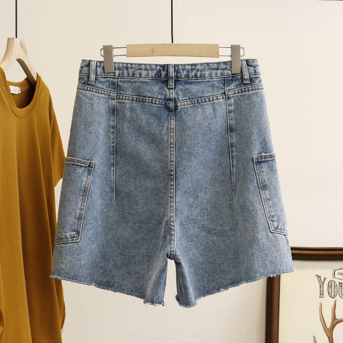 fRJby plus plus la taille des vêtements gras 200kg femmes et Shorts nouveaux jeans à la mode outillage Jeans et pantalons shorts été mm 7802