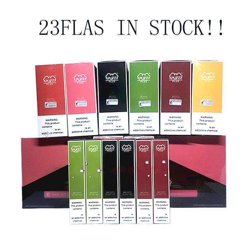 Слоеное Bar Plus Одноразовые Vapes устройства Pod Kit 800 puffbars 3,2 мл картриджи Vape Слейте Pen 20 Flavs Vape Корзина Упаковка электронной сигареты