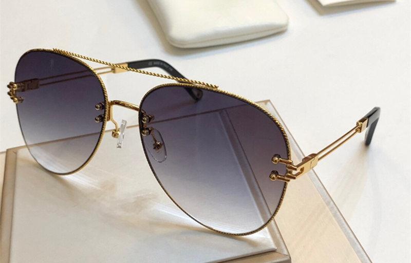 2020 gafas de sol de lujo del marco de mujer de marca Deisnger óvalo completo Uv400 Len verano estilo popular diseñador de la cara grande de calidad superior vienen con el caso 158S