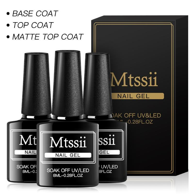 Mtssii 10 ml de Long Wear templado Nowipe Top Coat Easy Peel Off Base Agua uñas básico geles polaco del gel Esmalte de Uñas
