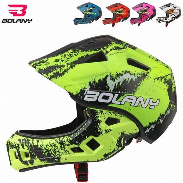 Bolany 2018 kinder Helme Voll Abgedeckt Bike Motocross Racing Downhill Kid Sicherheit intégrale Helm geformten 48- 56 cm wHHR #