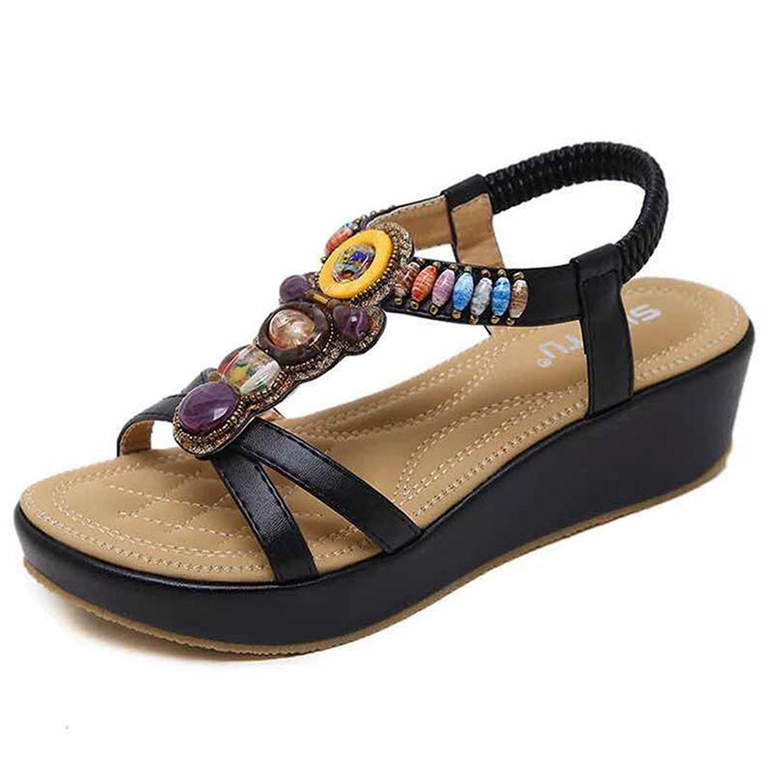 2020 lüks sihirli çubuk siyah beyaz cowskin gerçek deri platformu tasarımcı sandalet kadın moda ayakkabılar boyutu 35-41 tradingbear 11P718
