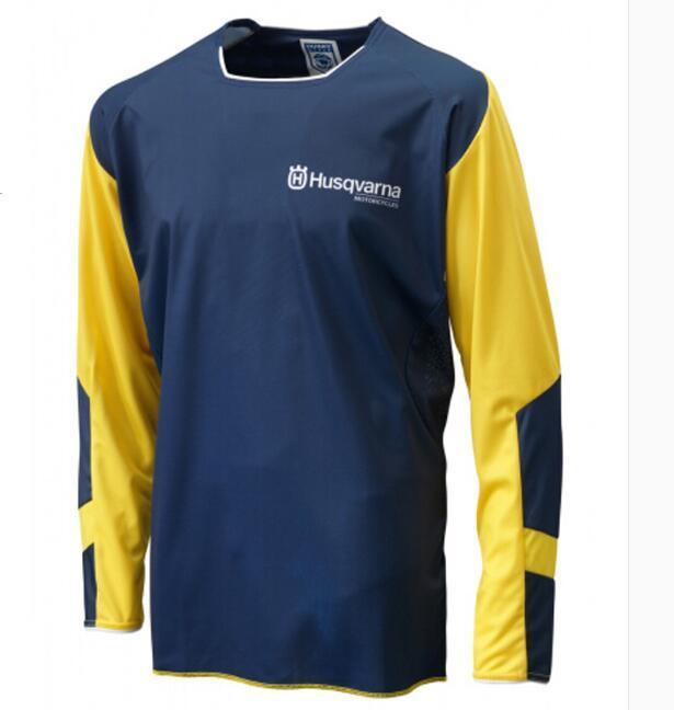 HUSQVAMA rendição velocidade de poliéster de secagem rápida verão camisola de manga comprida, off-road racing suit, mountain bike montando terno, o mesmo cu