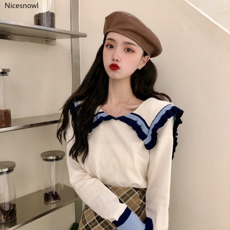 maglia coreano stile di gusto squisito dolce inverno autunno vestiti donne maglione marchio di moda pullover allentati ulzzang Hipster signore nuovo