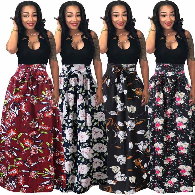 African Rock für Frauen-Sommer-Vertikale Langen Druck Röcke für Frauen Dashiki African Style Kleidung lang Maxi Rock