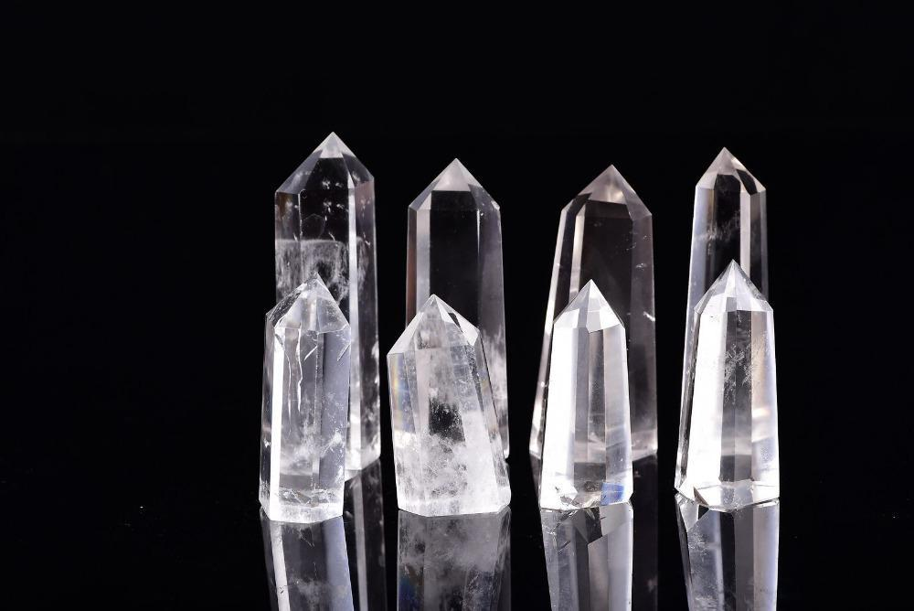 Free shipping 1kg Wholesale High quality 100% Natural Clear Quartz Crystal Point Gem Stone Wand Point reiki Healing Quartz Crystal