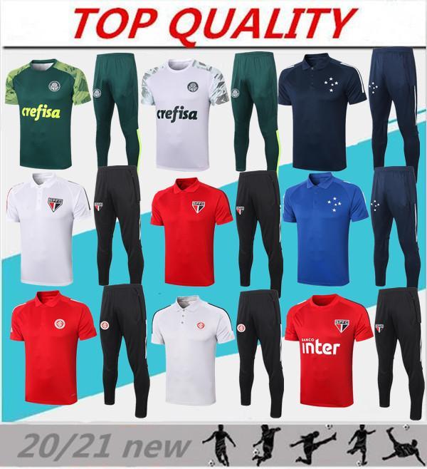2020 2021 SE Palmeiras Shirt de football SC Internacional Polo 20 21 São Paulo FC FC Jogging Soccer Taille S-XXL