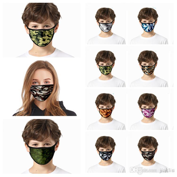 Europe and America 3D camouflage mask printed dust mask face Masks Housekeeping Designer Masks T2I5937