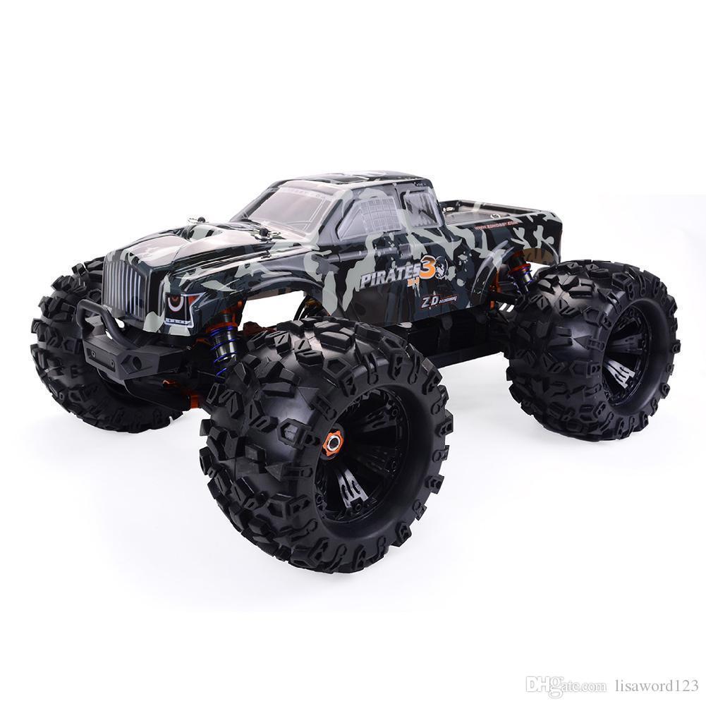جديد RCtown ZD سباق MT8 Pirates3 1/8 2.4G 4WD 90km / ساعة كهرباء فرش RC السيارة المعدنية الهيكل RTR 2020