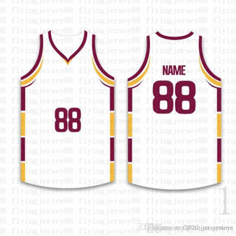 Top Custom Basketball Jerseys der Männer Stickerei Logos Jersey Freies Verschiffen billig Großhandel jeder Name eine beliebige Anzahl Größe S-XXL ojd7152