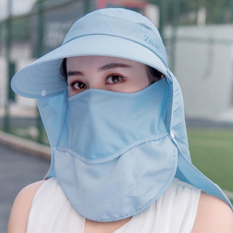 Вс лето лицо покрытие велосипедного обрезные ВС УФ большой защиты на открытом воздухе Складные пляжных женщин солнцезащитный крем солнцезащитный крем защиты шляпа 477Rj