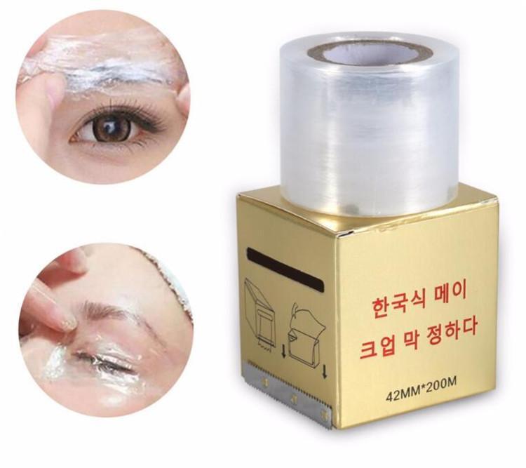 Microblading Plastic Wrap Tattoo Zubehör 42mm * 200m Permanent Makeup Film Eyebrow Tattoo Wrap