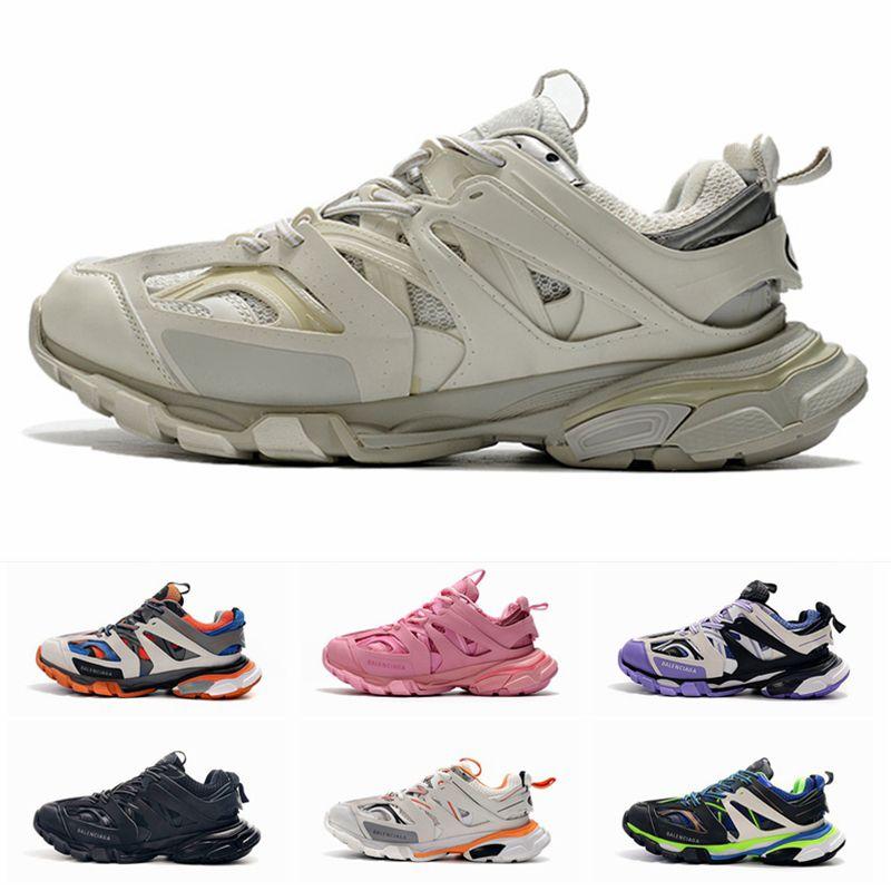 Pista 20ss New triple s 3.0 das mulheres dos homens de luxo Designer Sneakers Triplo Branco Rosa Casual Platform Outdoor calçados esportivos formadores tamanho 36-45