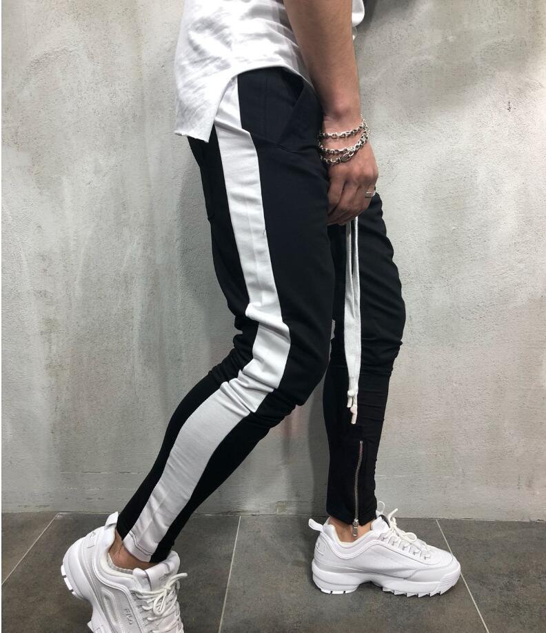 2020 Harajuku Moda Mens Corredores de Slim Pencil Pants Hip Hop Streetwear Mens Clthes Homens Sweatpants faixa Pant Hot New