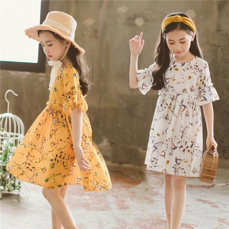 Девочки летних платья 2020 Новых малыши Цветы детей платья принцесса платья Марка малыши девушка младенец шифоновое, # 2841 71BI #