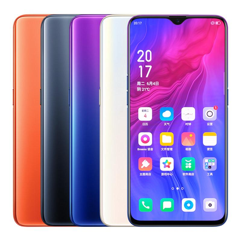 "Original OPPO Reno Z 4G LTE Cell Phone 6GB RAM 256GB ROM Helio P90 Octa Core Android 6.4"" 48.0MP NFC Face ID Fingerprint Smart Mobile Phone"