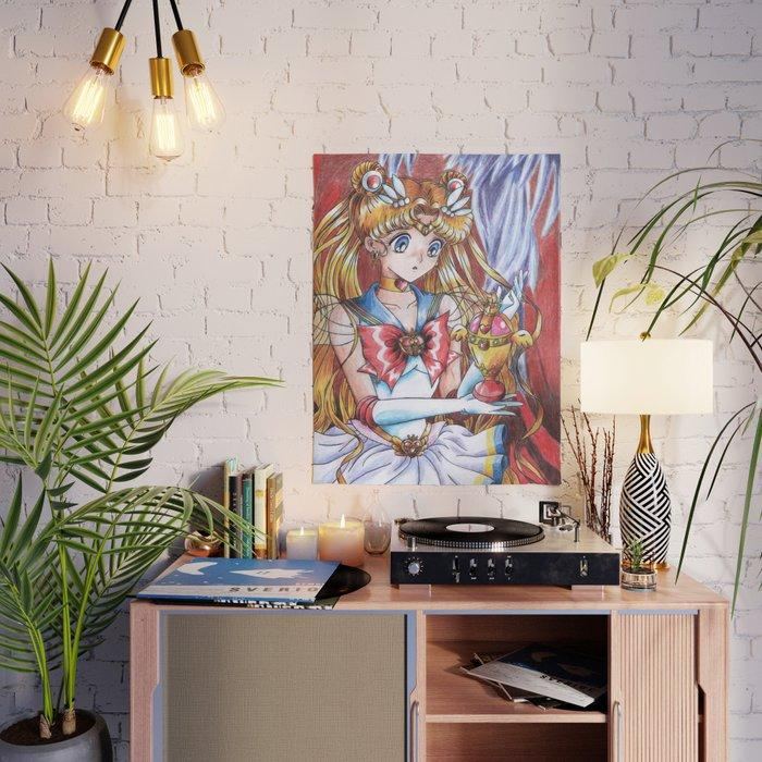 Beautiful Sailor Moon Japan Anime Wall Art Modular Canvas Home Decor Pictures HD Printed Paintings Living Room Artwork Framed