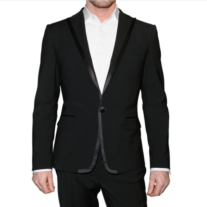 Un bouton 2 Pièces Shawl Collar Hommes Costumes populaire formelle de haute qualité plus défunte conception