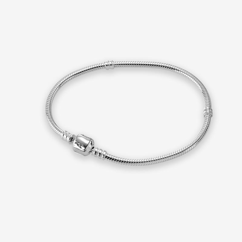 Snake Classic cadeia de jóias pulseira presente mulheres dos homens com a caixa original para Pandora 925 prata esterlina mão Charms cadeia Pulseiras