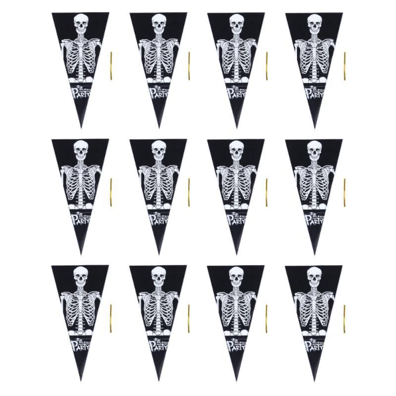 Sac bizarre Jouet Scary Halloween Sac 300pcs Candy Triangle Emballages Emballages ILPVS