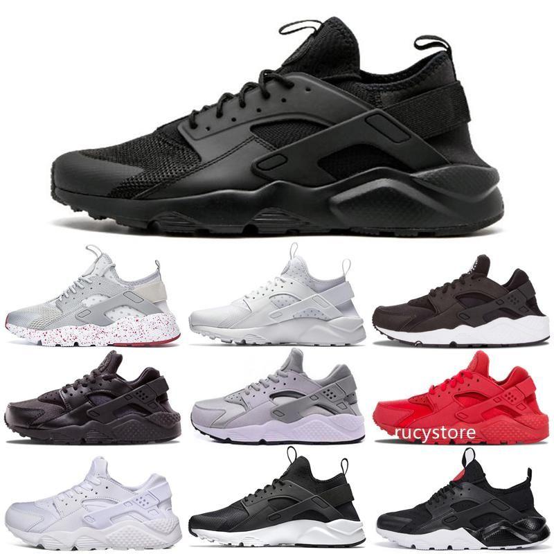 Barato Huarache de ultra 4 Ejecutar los zapatos corrientes de los hombres del nuevo del diseñador Huaraches Ultra Triple Black Huraches blanco 4 zapatillas de deporte de los zapatos de los hombres del deporte Breathe